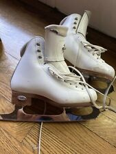 """Riedell Flair Girls Figure Skates Size 13W- Coronation Ace Blades Size 8.25"""""""