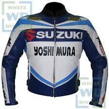 Suzuki 4212 A Grade Genuine Leather Biker Coat Motorcycle Motorbike Race Jacket