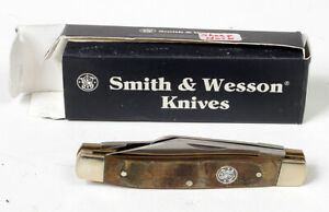 Smith & Wesson Knife CK1028 Stockman pocket knife with sheep horn handles NIB