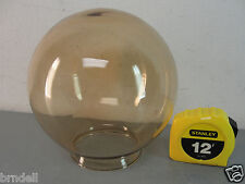 """New listing 6"""" Brown Glass Round Lipped Pendant Lamp Post Globe Outdoor Shade 3"""" Vintage"""