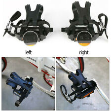 1 Pair Mountain Road Bike Fixed Gear Bicycle Cycling Pedals w/ Toe Clips Straps