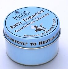 PACK of 3 Price's ANTI TOBACCO Candle in Tin Eliminates SMOKING Odour FR110316