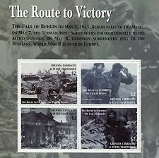 Grenadines Grenada 2005 MNH Route Victory Fall Berlin 4v M/S WWII WW2 Stamps