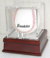 Baseball / Billiards ball Holder Display Case Cube, Cherry Stand, B03-CH