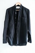 OUR LEGACY Generation shirt, Cotton/linen, black, S (46)