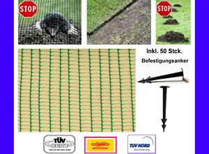 Maulwurfnetz 1,20 x 30 m + 50 Erdnägel
