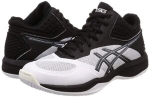 NEW ASICS Volleyball Shoes NETBURNER BALLISTIC FF MT White Black With Tracking