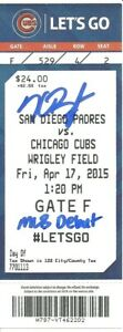 Kris Bryant Autographed MLB Debut Ticket Chicago Cubs 4/17/15 ! Fanatics 2