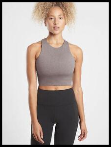 Athleta NWT Women's Conscious Crop D-DD+ Size Med Color Grey Heather
