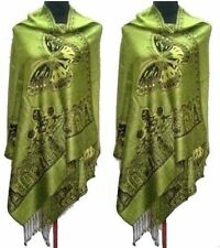 New Chinese Lady sided Double-Side Butterfly Pashmina Scarf Wrap Shawl Cape