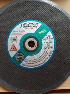 Cutting Discs 355mm X 3.5MM Metal Eurocut 20/25mm bore Port. Machine DATE 09/22