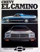1974 Chevy Chevrolet El Camino Original Dealer Sales Brochure