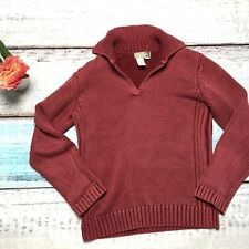 The Territory Ahead Size P Red Knit V-Neck Pullover Sweater Ribbed Small
