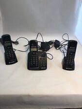 Emerson 3 Handset Landline Phone System EM6113-BK DECT 6.0 Main Base Answering