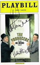 The Producers Musical OBC SIGNED Playbill Matthew Broderick Nathan Lane COA