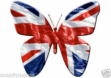UNION JACK BUTTERFLY iron on t shirt transfer A5