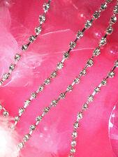 JB78 Crystal Clear Glass Rhinestone Chain Trim 18SS Sewing Crafts Jewelry
