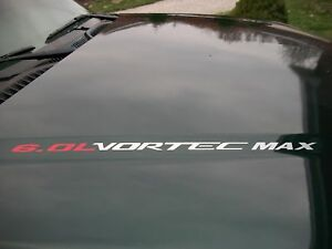 VORTEC MAX 6.0L Chevy Silverado GMC Sierra HD SS Decal HO 04 05 06 07