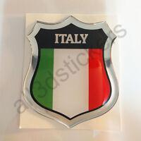 Pegatina Italia 3D Escudo Emblema Vinilo Adhesivo Resina Relieve Coche Moto