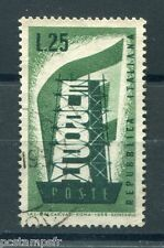 ITALIE ITALIA 1956, timbre 731, EUROPA, oblitéré, ITALY, VF used STAMP