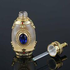 18ml Refillable Empty Glass Perfume Bottle Unique Sapphire Diamond Decor Gift