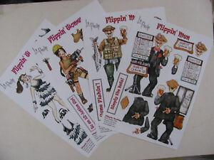 Decoupage Card Making Sheets Craft Paper Flippin' Men Women Embellish Scrapbook