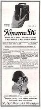 Publicité ZEISS IKON  KINAMO S.10  appareil photo vintage  ad  1929 -1j
