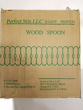 "Perfect Stix case of 10,000 60mm Birchwood Plain Taster Ice Cream Spoon, 2-3/8"""