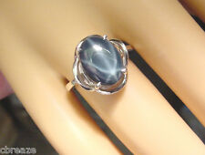BEAUTIFUL GENUINE BLUE STAR SAPPHIRE 5.62 CTS  925 STERLING SILVER RING