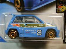 2019 Hot Wheels #2/8 - '85 Honda City Turbo ll - Nightburnerz Series  Light Blue