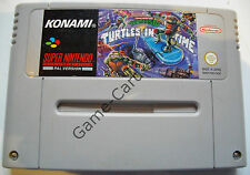 SNES-TURTLES IV (4) - Turtles in Time-PAL-Only Module-Used