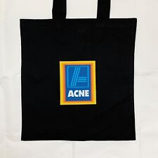 Aldi Acne Studios Tote Canvas Bag Joke Parody Designer Tote Bag Black or White
