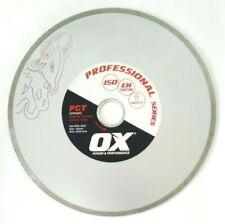 "OX Professional 230mm 9"" Continuous Rim Tile Cutting Blade Stone&Ceramic Tiling"
