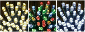 100 Multi Function Timer LED String Lights Christmas Waterproof Outdoor Battery