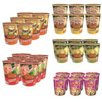 6 X MAMA Noodle Cup Shrimp TOM YUM KUNG Flavour Soup Thai Food Hot & Spicy Ramen