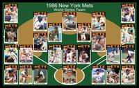 1986 NEW YORK METS World Series POSTER Wall Art Man Cave Decor Fan Xmas Gift 86