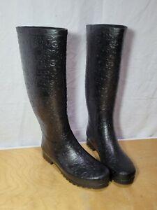 Ugg s/n 3386 women's waterproof rubber black rain boots size 8 U.S. Muck Boots