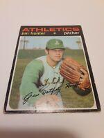 "1971 Topps Jim ""Catfish"" Hunter #45 Baseball Card Oakland A's"