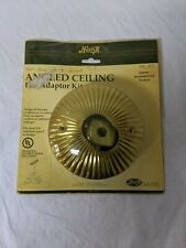 Hunter Angled Ceiling Fan Adapter Kit Model 22172 (Bright Brass)