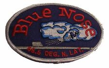 """US Navy Blue Nose Iron On Patch Submarine Article 4 1/2"""" 218 Shellback Licensed"""