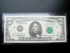 $5 1995 SAN FRANCISCO FEDERAL RESERVE NOTE CHOICE UNC((3 DIGIT SERIAL#3oooo8o4))