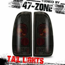 For Ford F150 F1250 F350 Altezza Style Black Housing Smoke Lens Tail Light Pair