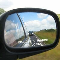 2 x Body Windshield Rearview Mirror OBJECTS IN MIRROR ARE LOSING Sticker Cost
