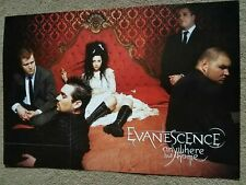 Evanescence - Anywhere But Home - 2004 Promo Poster - 12 X 17 - Rare / Amy Lee