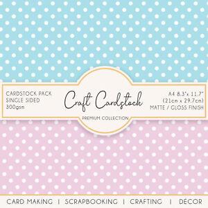 Polka Dot Wedding Scrapbook Card Making Patterned 300gsm A4 Craft Cardstock