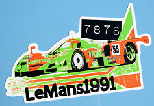 LE MANS 24 HOURS 1991 'MAZDA 787B' RETRO style stickers decals x2