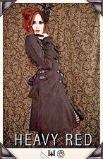 HEAVY RED Couture VICTORIAN DALLIANCE WINTER COAT plush black gothic 2011 XXS 0