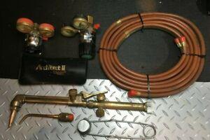 Vintage PUROX CW-200 Oxy-Acetylene Cutting Torch Handle w Hose