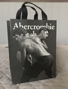 Abercrombie & Fitch Thick Paper Shopping Bag (A&F) Material Handles