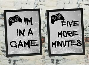 Photo Print, You can't just pause a game, Xbox prints, boys gaming print